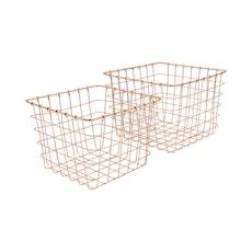 Copper Magazine Baskets (Set of 2)