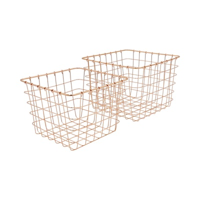 Copper Magazine Baskets (Set of 2) - Image 1