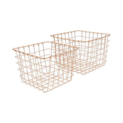 Copper Magazine Baskets (Set of 2)