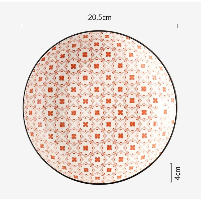 Table Matters Crisscross Red Coupe Plate - 1