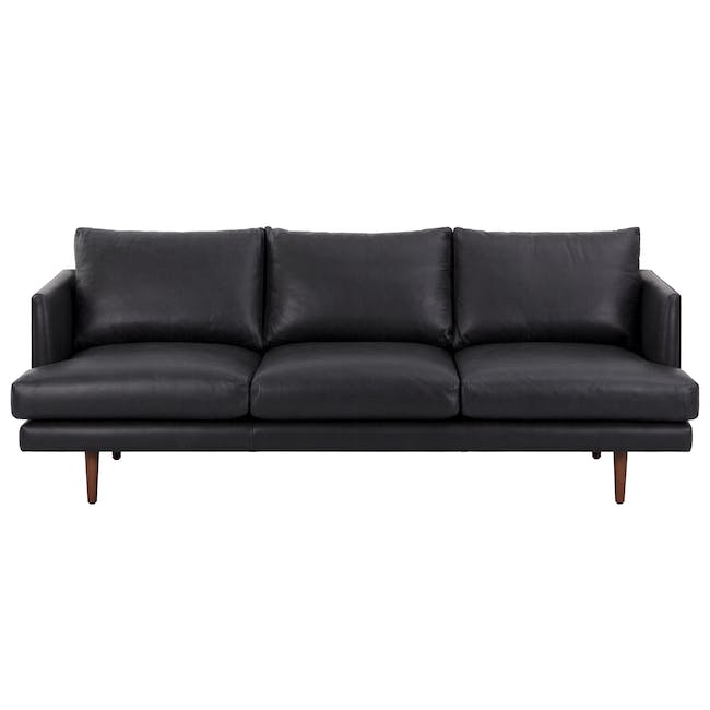Duster 3 Seater Sofa - Charcoal (Premium Leather) - 0
