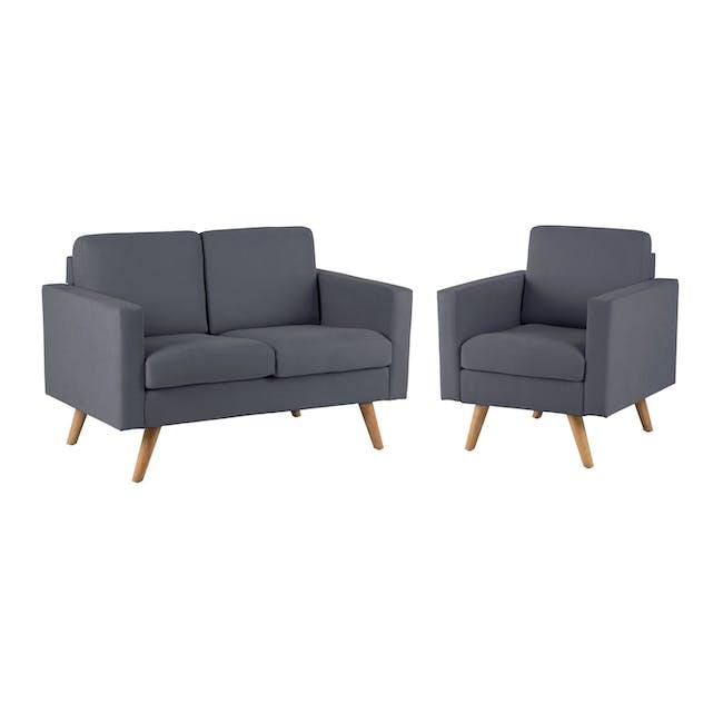 Helen 2 Seater Sofa with Helen Armchair - Hailstorm - 0