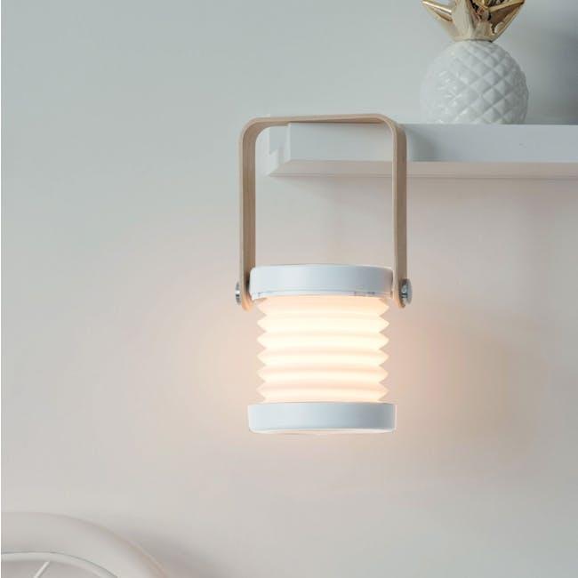 Faye Accordion LED Table Lamp - White - 13