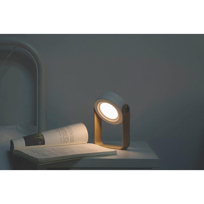 Faye Accordion LED Table Lamp - White - 10