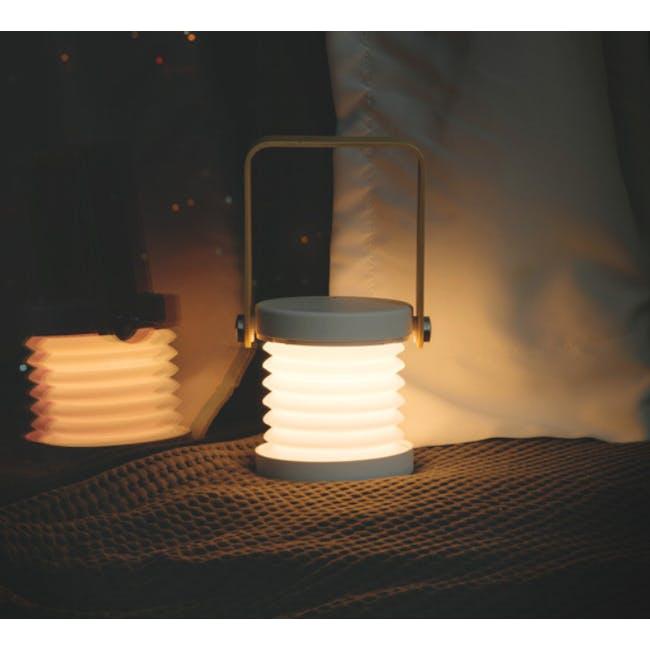 Faye Accordion LED Table Lamp - White - 12