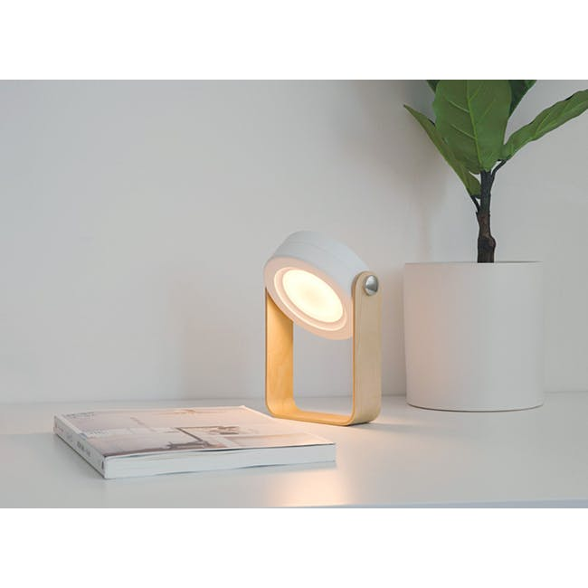 Faye Accordion LED Table Lamp - White - 1