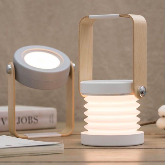 Faye Accordion LED Table Lamp - White - 11