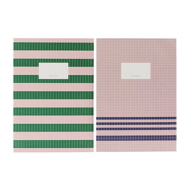 A4 Lily Notebook with A5 Jule Notebook Stationery Set - 5