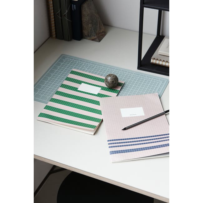 A4 Lily Notebook with A5 Jule Notebook Stationery Set - 1