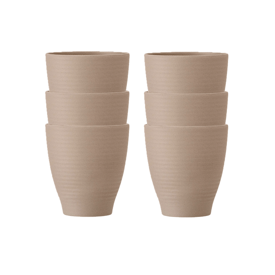Laholm - Rhea Cup - Brown (Set of 6)