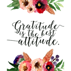 Gratitude Is The Best Attitude Canvas Art Print