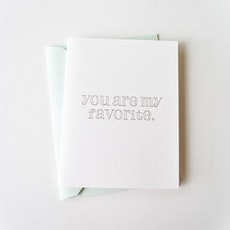You Are My Favourite Letterpress Card