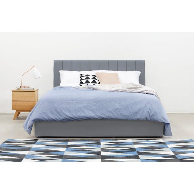 Audrey Queen Storage Bed - Seal Grey (Velvet) - 1