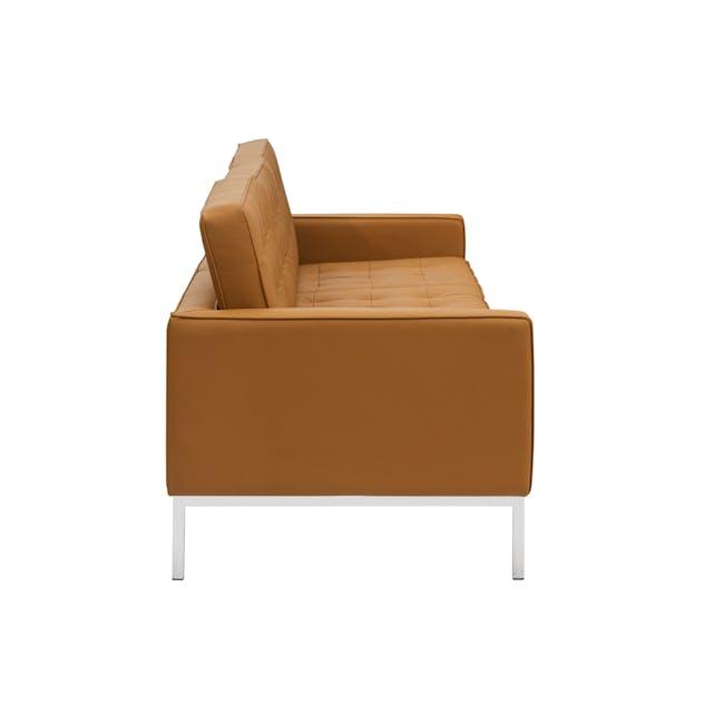 Florence Knoll 3 Seater Sofa Replica - Tan (Genuine Cowhide) - 2