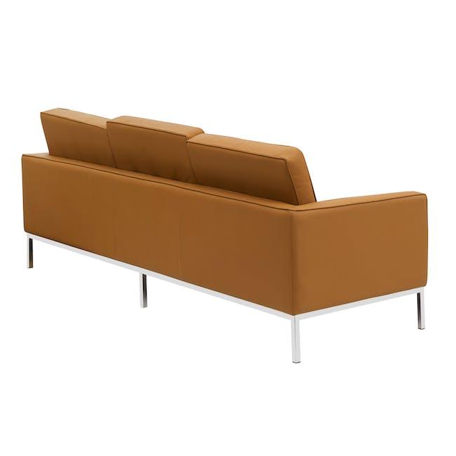Florence Knoll 3 Seater Sofa Replica - Tan (Genuine Cowhide) - 3