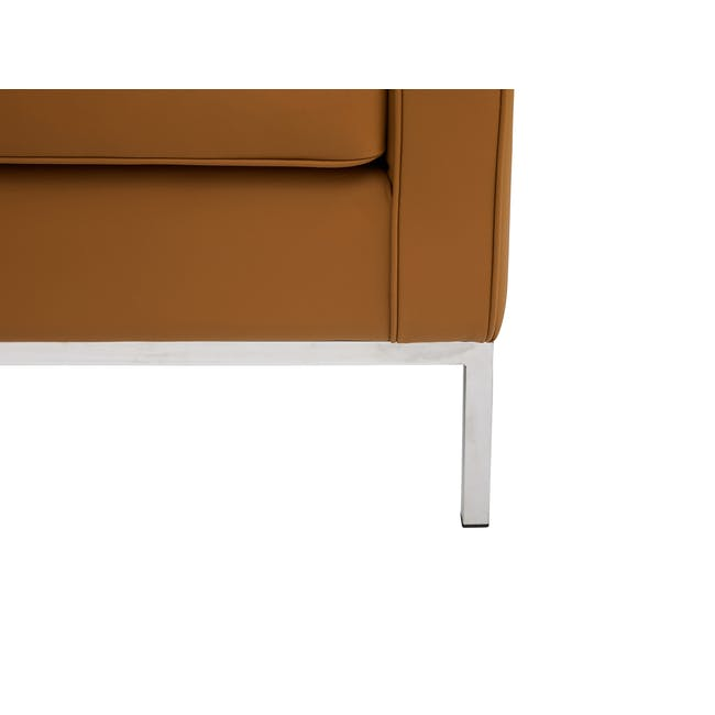 Florence Knoll 3 Seater Sofa Replica - Tan (Genuine Cowhide) - 6