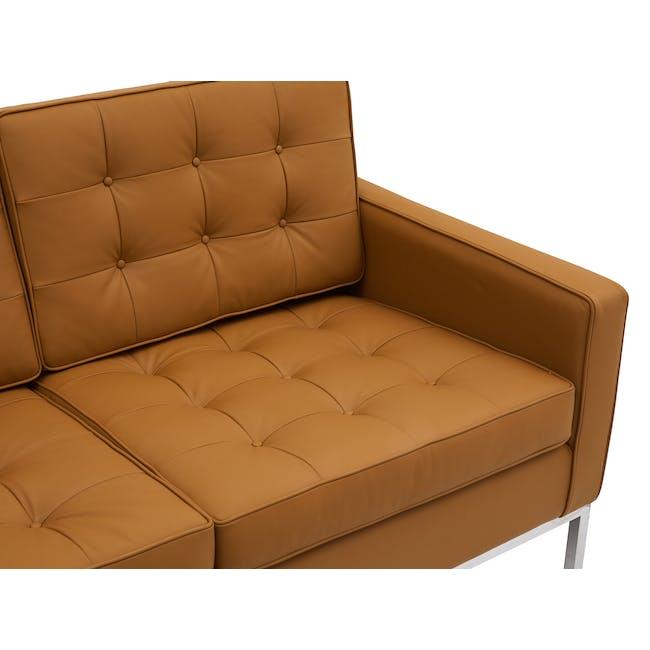 Florence Knoll 3 Seater Sofa Replica - Tan (Genuine Cowhide) - 4