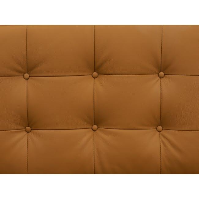 Florence Knoll 3 Seater Sofa Replica - Tan (Genuine Cowhide) - 5