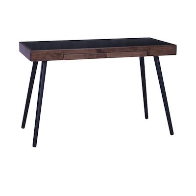 Reth Working Desk - Black, Walnut - Image 2