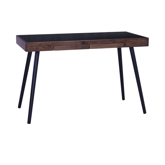 Laholm - Reth Working Desk - Black, Walnut