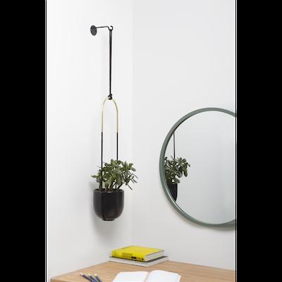 Bolo Hanging Planter - Black, Brass - Image 2