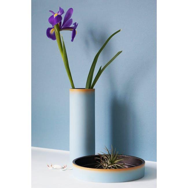 Tubular Tall Vase 23.5 cm - Sky Blue - 3