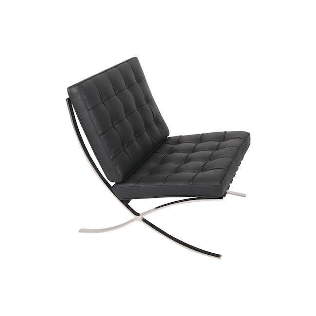 Barcelona Chair with Barcelona Ottoman - Black (Genuine Cowhide) - 9