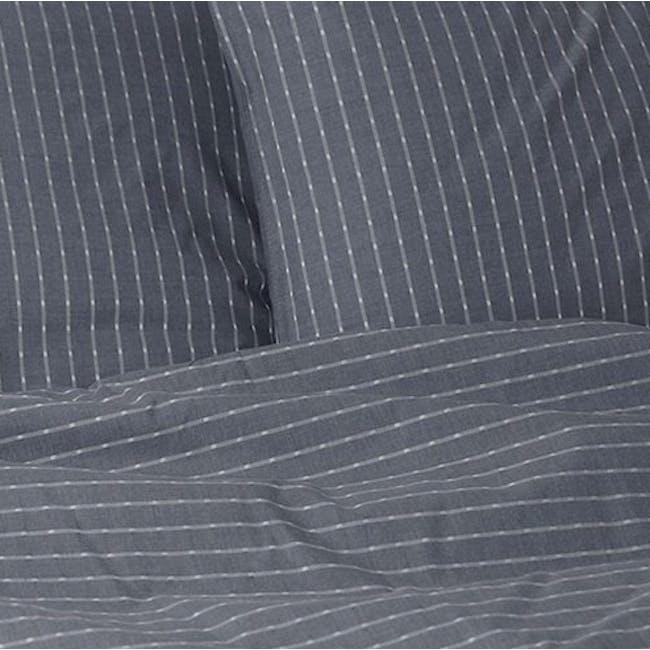 Canningvale Sleep Easy Linea Quilt Cover Set - Denim Blue (2 Sizes) - 1