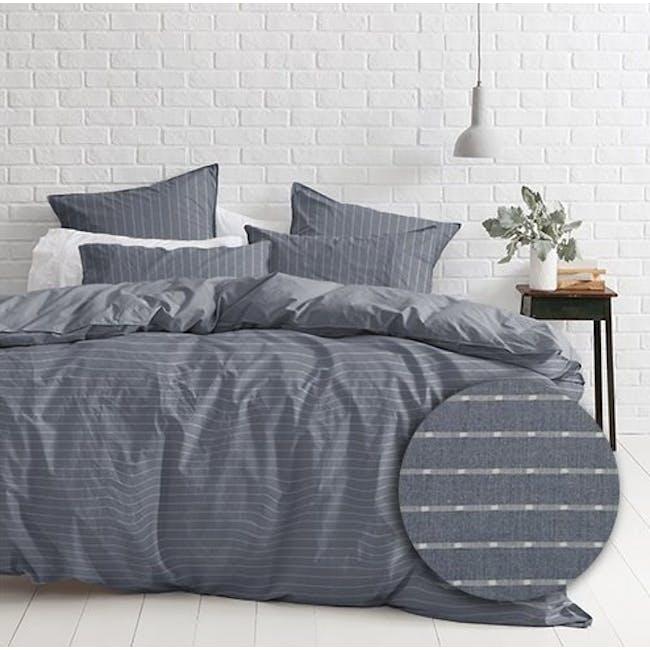 Canningvale Sleep Easy Linea Quilt Cover Set - Denim Blue (2 Sizes) - 0