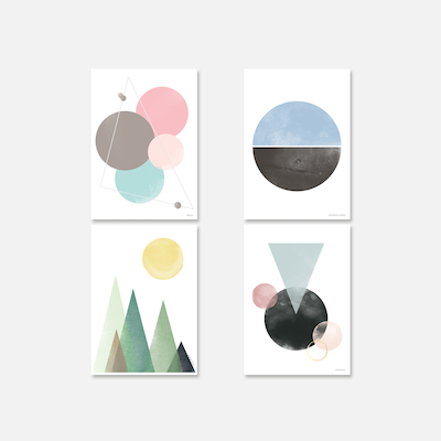 Geometric Poster Prints Bundle - Image 1