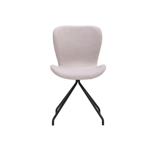 Gryta Dining Chair - Matt Black, Sand - 4