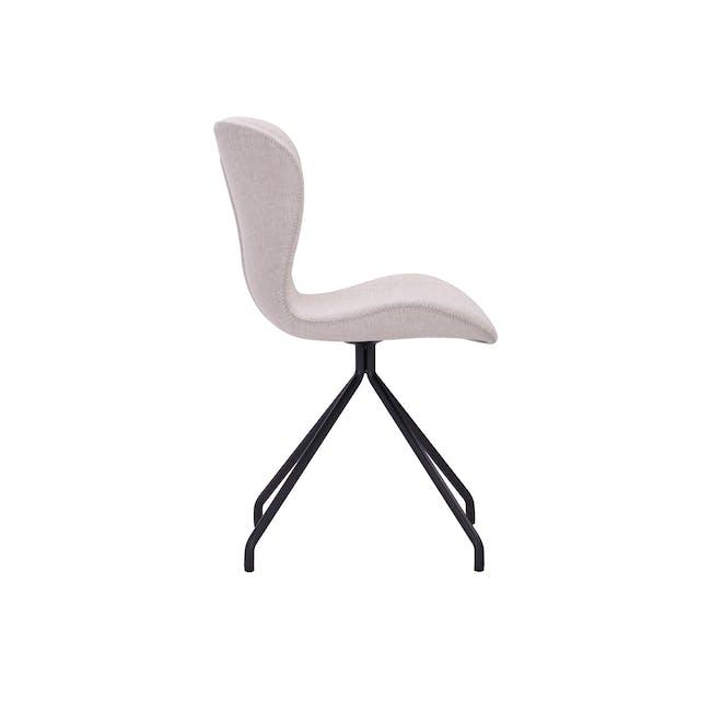 Gryta Dining Chair - Matt Black, Sand - 2