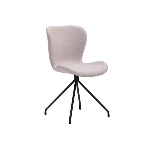 Gryta Dining Chair - Matt Black, Sand - 0