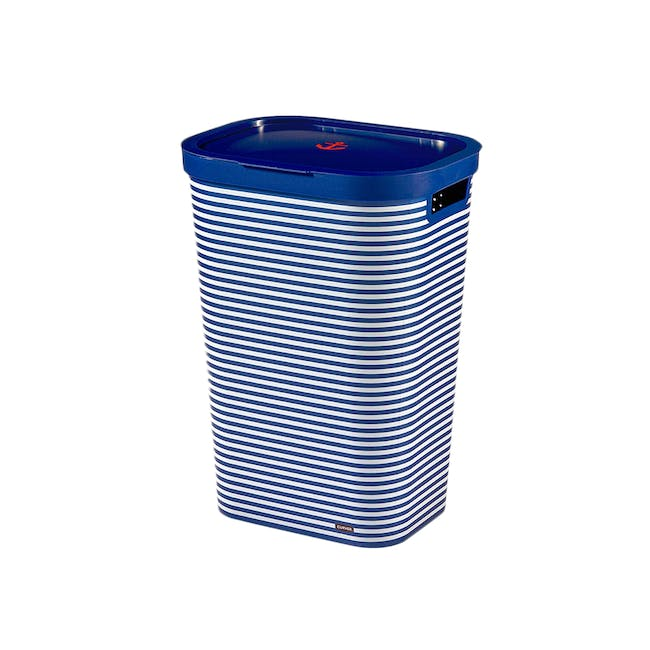 Infinity Laundry Hamper with Lid - Blue Marine - 0