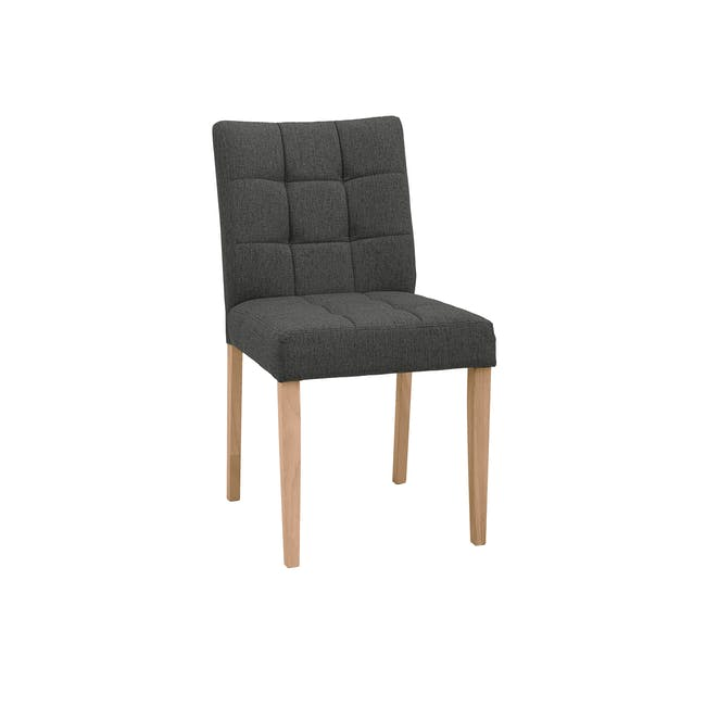 Seth Dining Chair - Natural, Battleship Grey - 0