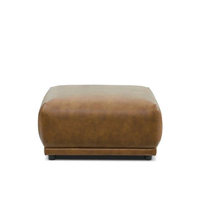 Milan Ottoman - Tan (Faux Leather) - 0