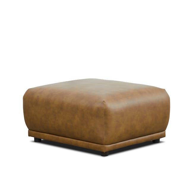 Milan Ottoman - Tan (Faux Leather) - 5