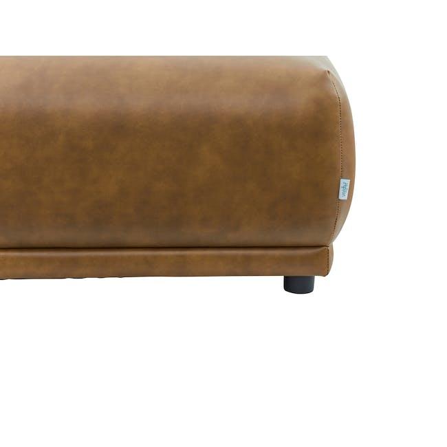Milan Ottoman - Tan (Faux Leather) - 2