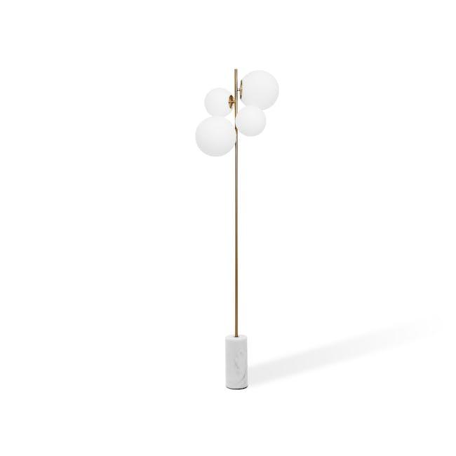 Luocco Marble Floor Lamp - White - 0