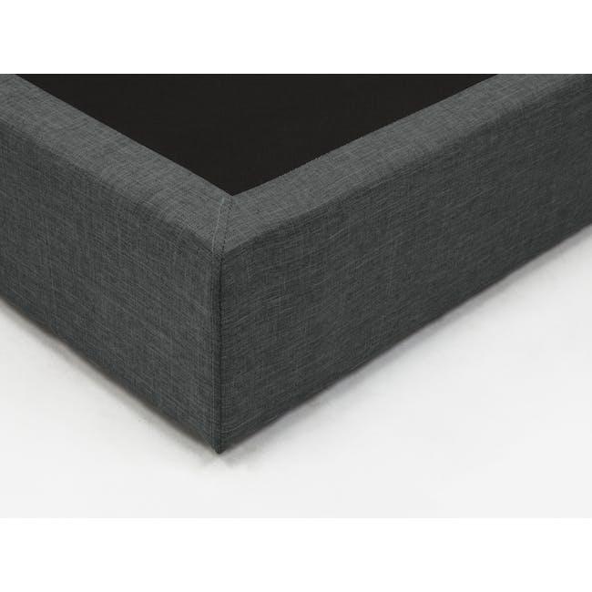 ESSENTIALS Queen Box Bed - Smoke (Fabric) - 4