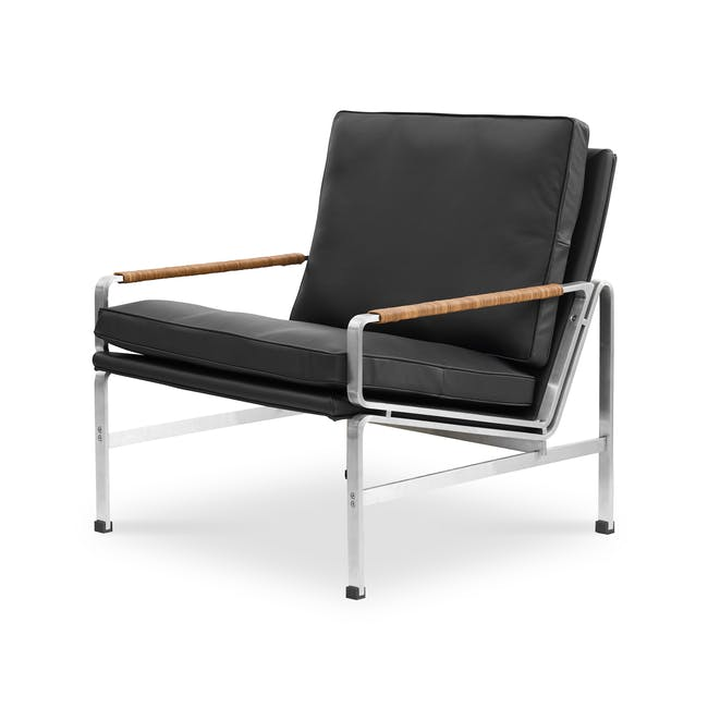 FK6720 Easy Chair Replica - Black (Genuine Cowhide) - 0
