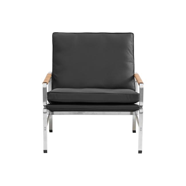 FK6720 Easy Chair Replica - Black (Genuine Cowhide) - 1