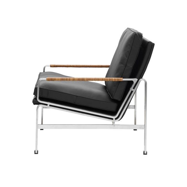 FK6720 Easy Chair Replica - Black (Genuine Cowhide) - 2