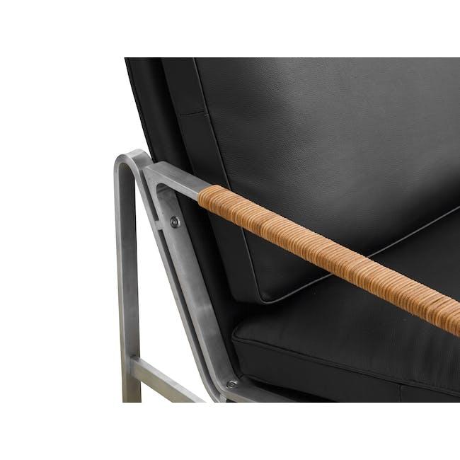 FK6720 Easy Chair Replica - Black (Genuine Cowhide) - 4