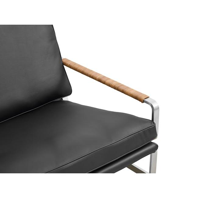 FK6720 Easy Chair Replica - Black (Genuine Cowhide) - 5