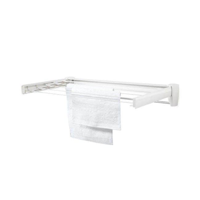 Leifheit Telegant 36 Protect Plus Wall Clothes Drying Rack - 0