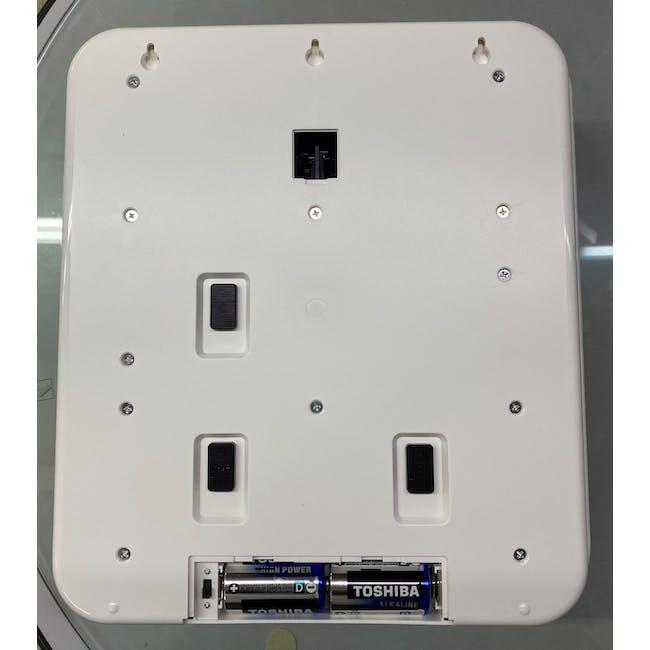 TWEMCO Big Calendar Flip Wall Clock - White Case Black Dial - 4