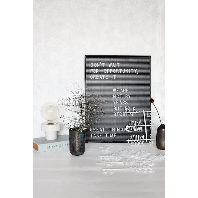 Letter Board with 286 Letters - Black, White - 1