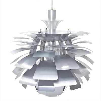 Artichoke Lamp with E27 Bulb - Silver - Image 2