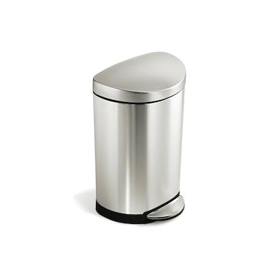 simplehuman Semi-Round Step Bin 10L - Silver - Image 1